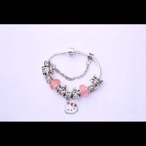 Sterling Silver European charm bracelet. New